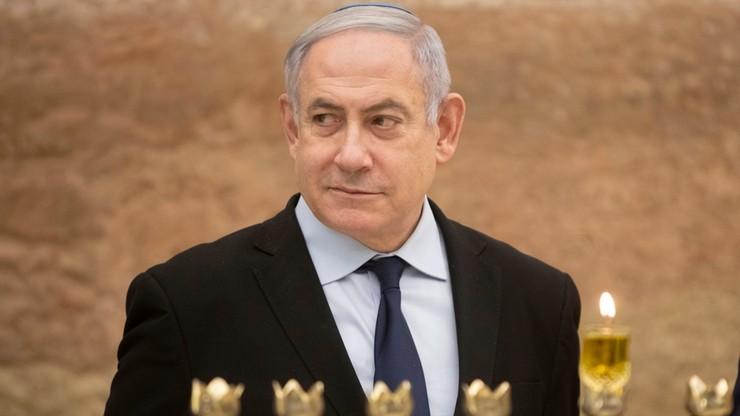 Rakieta zakłóciła spotkanie wyborcze Netanjahu. Premier Izraela musiał uciec do schronu [WIDEO]