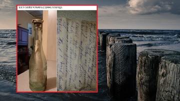 Rybak wyłowił butelkę z listem sprzed 90 lat