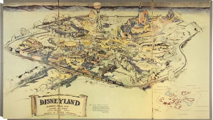 Tak wyglądał plan pierwszego Disneylandu. Jest wart ponad 2,5 miliona złotych