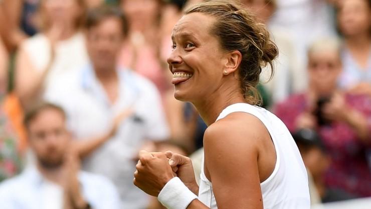 Wimbledon: Nierozstawiona Strycova uzupełniła grono półfinalistek