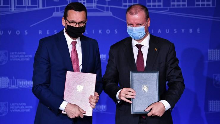 Premierzy Polski i Litwy podpisali deklarację ws. sytuacji na Białorusi