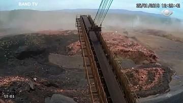 Brazylia: kamera przemysłowa zarejestrowała moment przerwania tamy w kopalni rudy żelaza