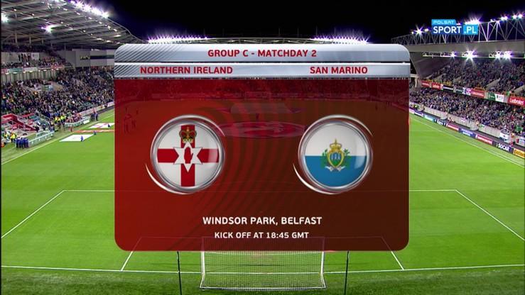 2016-10-08 Irlandia Północna - San Marino 4:0. Skrót meczu