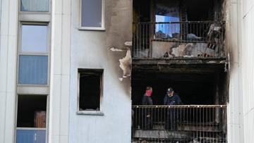 Pożar w bloku w Warszawie. Nie żyje jedna osoba