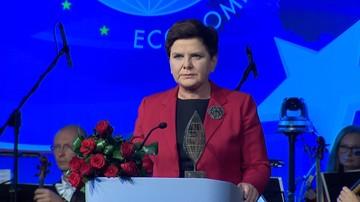 Premier Szydło uhonorowana nagrodą Człowieka Roku Forum Ekonomicznego w Krynicy