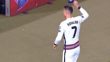 Ronaldo wściekły na sędziego! Rzucił opaską i zszedł z boiska (WIDEO)