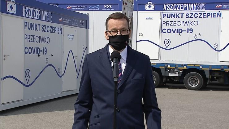 Szczepienia bez rejestracji. Premier: ruszamy w Polskę
