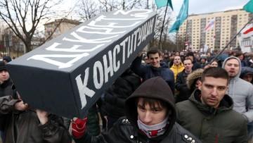 """""""Naruszyły ustawę, bo zasłaniały twarz"""" - MSW Białorusi o osobach zatrzymanych ws. środowych protestów"""