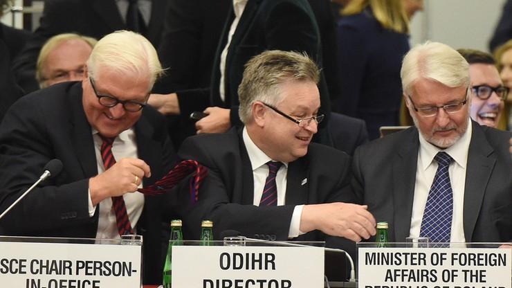 Konferencja o prawach człowieka w Warszawie. Otworzył ją Waszczykowski. Steinmeier gościem