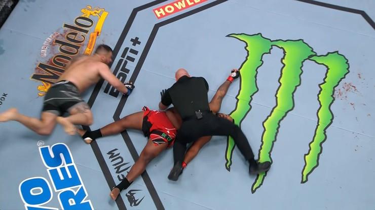 UFC: Brutalny nokaut w wadze ciężkiej! Rywal padł jak rażony piorunem (WIDEO)