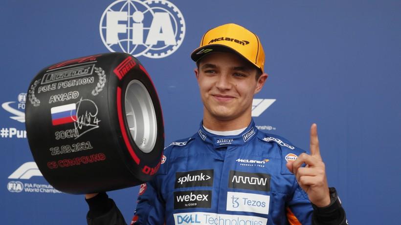 GP Rosji: Lando Norris najszybszy w kwalifikacjach w Soczi