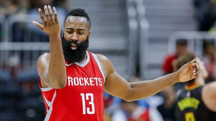 NBA: 54 punkty Hardena nie pomogły Rockets