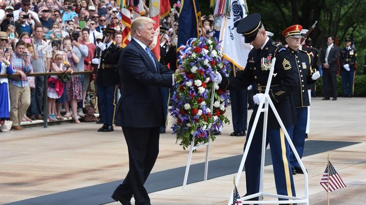 Donald Trump złożył hołd poległym żołnierzom