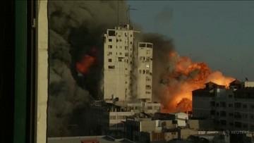 Runął trzeci wieżowiec po izraelskim ataku. Netanjahu gratuluje, Hamas odpowiada ostrzałem