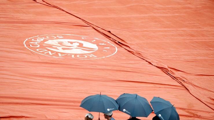 French Open: Deszcz przerwał poniedziałkowe mecze, koniec gry w Paryżu