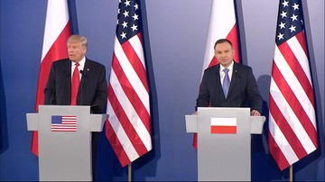 """""""Wraz z Polską wypracowujemy reakcję na działanie Rosji"""". Po spotkaniu Dudy z Trumpem"""