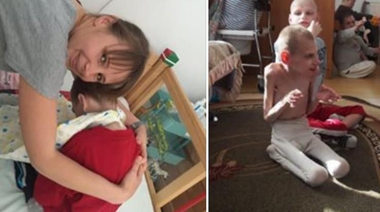 Polacy walczą o życie Andrieja. Na Ukrainie mógłby umrzeć w domu dziecka