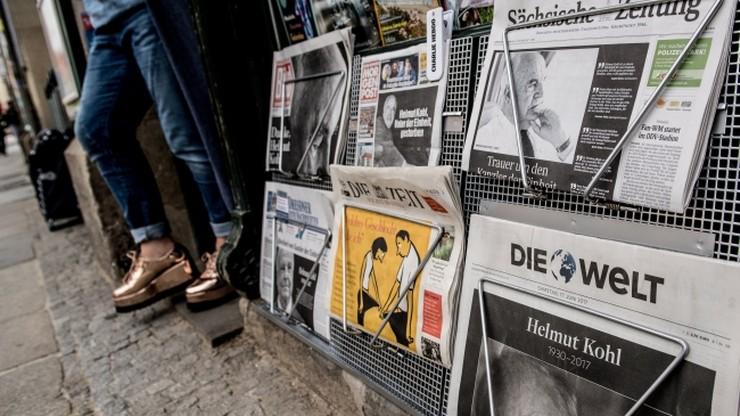 Niemiecka prasa: Helmut Kohl mocno zakotwiczył Niemcy w Europie