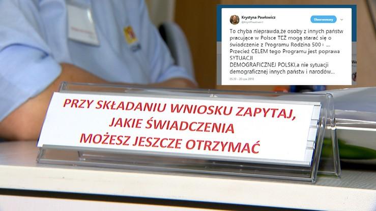 """Pawłowicz nie wierzy, że z 500+ mogą korzystać cudzoziemcy. """"Miał poprawić sytuację w Polsce"""""""