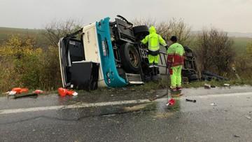 Wypadek autobusu z uczniami na Słowacji. 12 osób zginęło, około 20 rannych