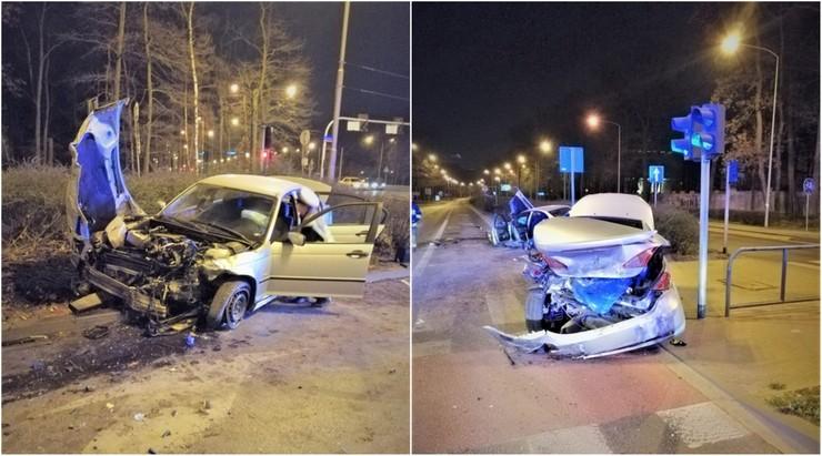"""Pech kierowców bmw. Jeden, pijany, doprowadził do zderzenia, drugi """"driftując"""" potrącił pieszą"""