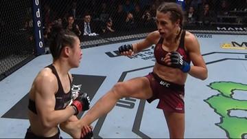 UFC: Jędrzejczyk - Zhang walką roku 2020. Skrót pojedynku