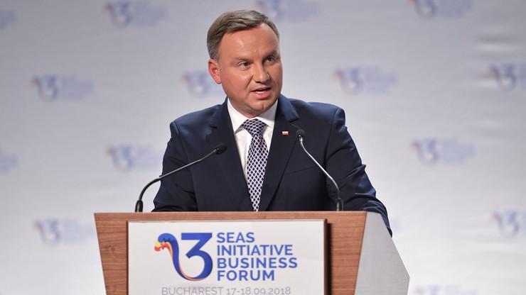 Szczyt Inicjatywy Trójmorza w Bukareszcie. Prezydent Duda: stawiamy na wysoką jakość relacji z UE