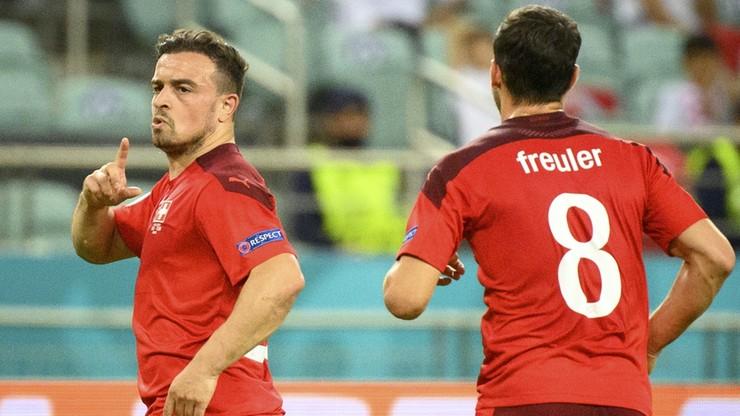 Euro 2020. Szwajcaria - Turcja 3:1. Gol Xherdana Shaqiriego
