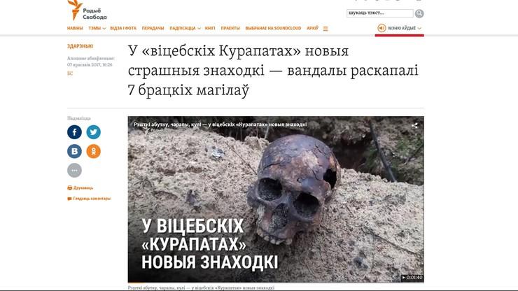"""""""Rozrzucone ludzkie kości i czaszki z dziurami w potylicy"""". Pod Witebskiem znaleziono szczątki ofiar represji stalinowskich"""