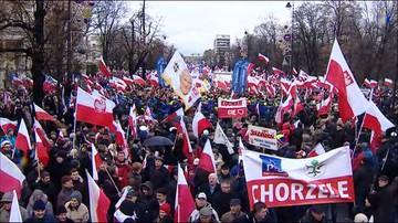 """Marsz Wolności i Solidarności na ulicach Warszawy. """"Prezydencie jesteśmy z tobą"""""""