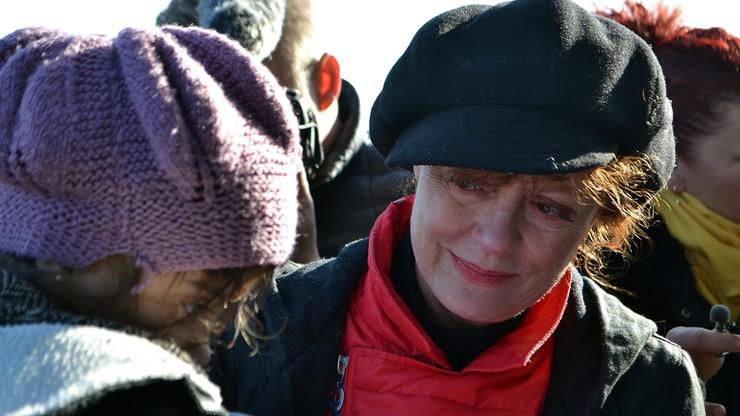 Susan Sarandon spotkała się się z uchodźcami na Lesbos