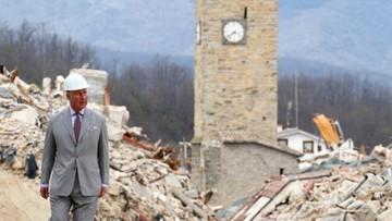 Książę Karol odwiedził zniszczone włoskie miasteczko Amatrice