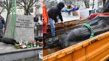 Policja: sprawcy obalenia pomnika ks. Jankowskiego w Gdańsku zostaną w areszcie