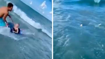 Adrian Kosicki bohaterem na Florydzie. Policjant uratował dziecko przed rekinem [WIDEO]