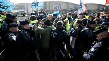 Strajk płacowy w Air France. Starcia protestujących z policją