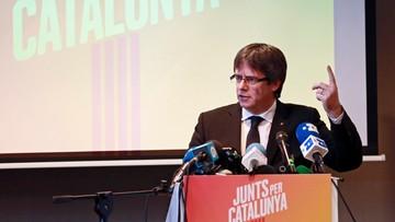 """Puigdemont zaprezentował listę wyborczą Razem dla Katalonii. """"Posiadamy zdolność utworzenia niepodległego państwa"""""""