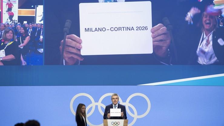 Mediolan i Cortina d'Ampezzo gospodarzami zimowych igrzysk olimpijskich w 2026 r.