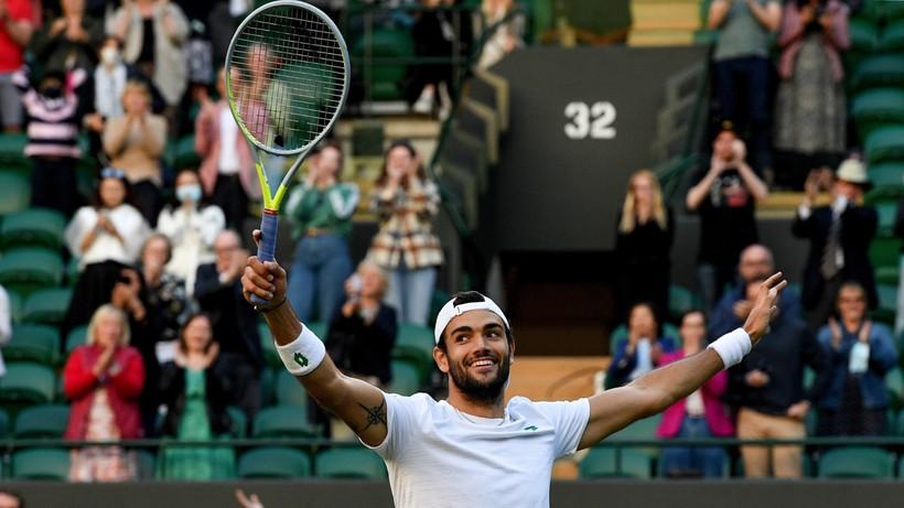 Wimbledon: Matteo Berrettini w półfinale. Zagra z Hubertem Hurkaczem