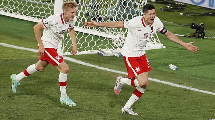 Mecz Polska-Hiszpania. 1:1 po golu Lewandowskiego