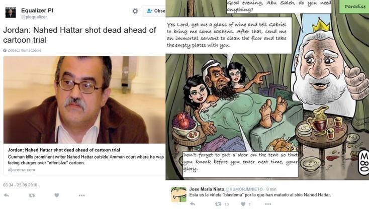 Pisarz opublikował karykaturę Mahometa. Został zastrzelony
