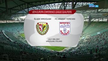Śląsk Wrocław - Ararat Erywań 3:3. Skrót meczu