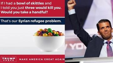 """""""Uchodźcy z Syrii są jak cukierki Skittles"""". Tak twierdzi syn Trumpa"""
