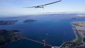 Samolotem solarnym nad mostem Golden Gate