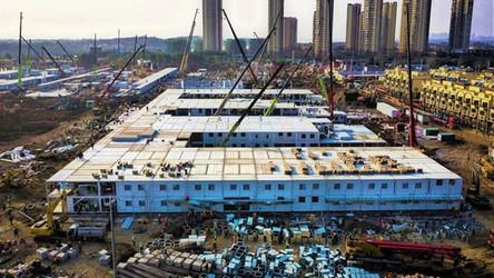 10 dni budowy szpitala dla zainfekowanych wirusem w Wuhan, w zaledwie 60 sekund