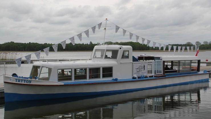 W jeziorze Wigry zatonął Tryton tzw. statek papieski