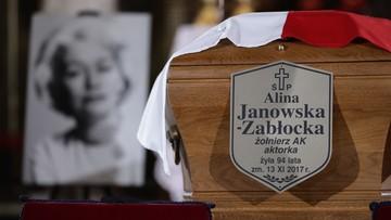 """W Warszawie pożegnano Alinę Janowską. """"Wspaniała aktorka, ale także wielka patriotka"""""""