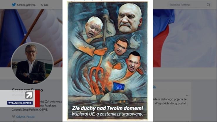"""""""Skandaliczna, pokazuje frustrację"""" Mazurek o grafice opublikowanej przez Furgo"""