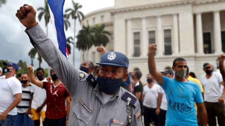 Kuba. Setki zaginionych. Władza zmusza młodzież do pacyfikacji protestów