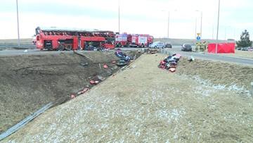 Wypadek ukraińskiego autokaru. Prokuratura: potwierdzono tożsamość wszystkich ofiar