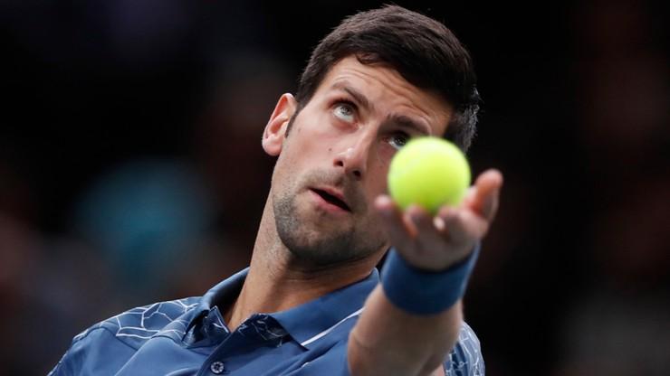 Turniej ATP w Paryżu: Nadal się wycofał, Djokovic liderem rankingu